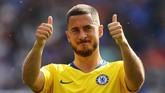 Raheem Sterling ditemani dengan Eden Hazard yang terbukti masih memiliki insting gol cukup tinggi di Chelsea. (REUTERS/Eddie Keogh)