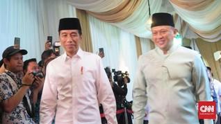 Buka Puasa di Rumah Bamsoet, Jokowi Disambut Fahri Hamzah