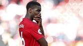 Gelandang Manchester United Paul Pogba juga suli dicegah klub untuk pergi. Pogba diklaim semakin bersikeras untuk pindah ke Real Madrid. (REUTERS/Andrew Yates)