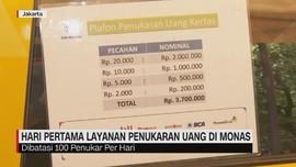 VIDEO: Hari Pertama Penukaran Uang di Monas