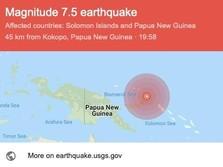 Gempa Magnitudo 7,5 Terjadi di Papua Nugini, Potensi Tsunami