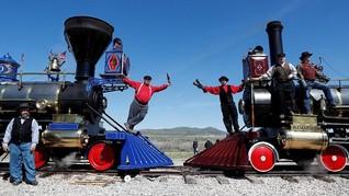 FOTO: Merayakan 'Keabadian' Transcontinental Railroad
