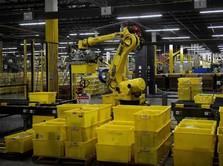 Di Gudang Amazon, Banyak Pekerjaan Manusia Digantikan Robot