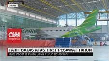 VIDEO: Tarif Batas Atas Tiket Pesawat Turun Hingga 16%