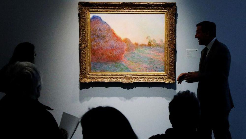 Salah satu lukisan karya Claudio Monet dari seri