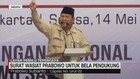 VIDEO: Surat Wasiat Prabowo untuk Bela Pendukung