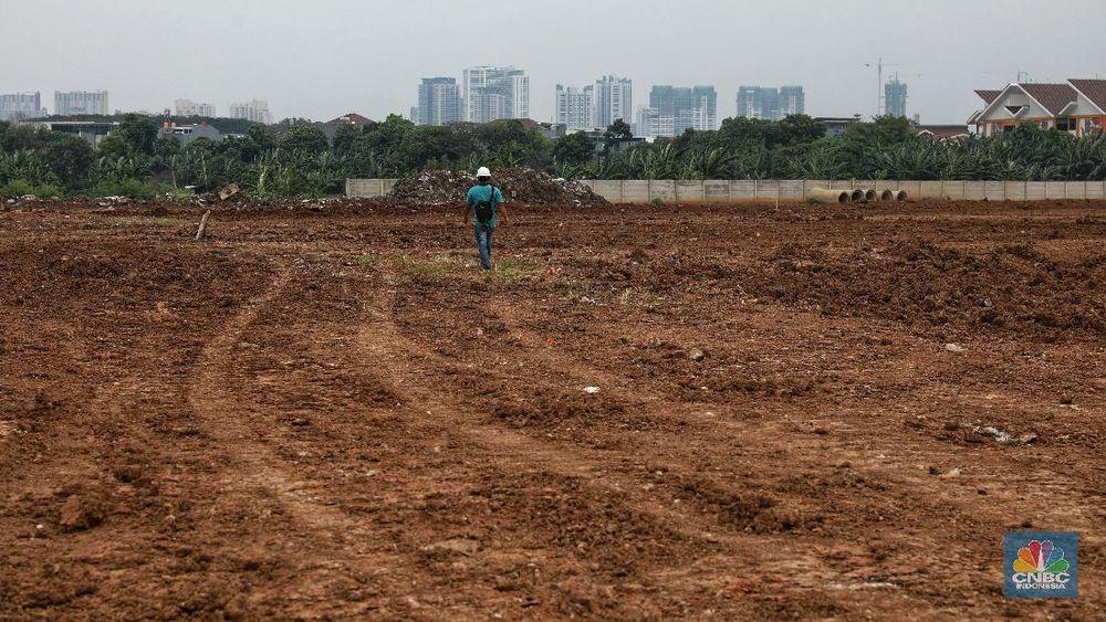 Lahan Taman BMW yang akan menjadi lokasi Stadion Persija Jakarta adalah milik PT Buana Permata Hijau. (CNBC Indonesia/Andrean Kristianto)