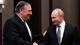 Ke Rusia, Menlu AS Peringatkan Jangan Intervensi Pemilu 2020