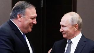 Bertemu Putin, Pompeo Sebut AS-Rusia Sejalan soal Korut