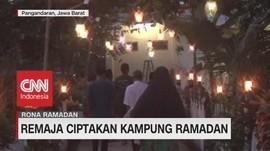 VIDEO: Halaman Masjid Disulap Jadi 'Kampung Ramadan'