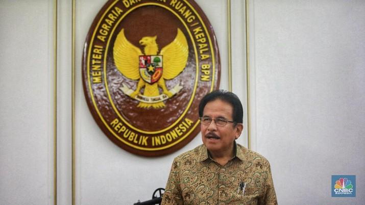 Menteri Agraria dan Tata Ruang Indonesia, Sofyan Djalil (CNBC Indonesia/Andrean Kristianto)