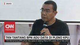 VIDEO: TKN Tantang BPN Adu Data di Pleno KPU