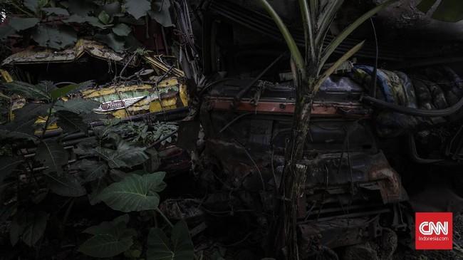 Suasana seperti berubah ketika memasuki kawasan Alas Roban, Hamparan hutan jati membuat kawasan lebih temaram, kontur jalan berkelok disertai tanjakan dan turunan tajam terhampar disepanjang jalan. (CNNIndonesia/Adhi Wicaksono).