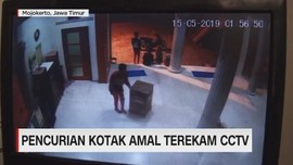 VIDEO: Pencurian Kotak Amal Terekam CCTV