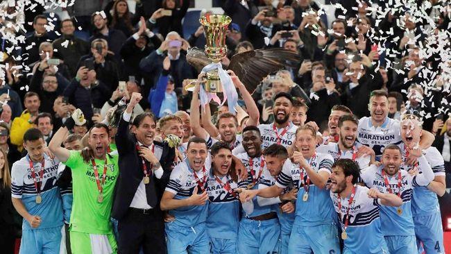 Raih Gelar Ketujuh Coppa Italia, Lazio Sejajar Inter Milan
