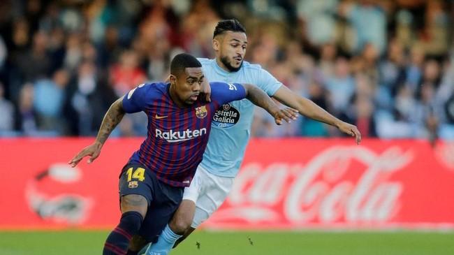Baru satu musim di Camp Nou, Malcom sudah masuk daftar jual Barcelona. Pemain asal Brasil itu hanya menjadi cadangan di Barcelona dan Azulgrana hanya mau melepas Malcom dengan harga tidak kurang dari €41 juta. (REUTERS/Miguel Vidal)