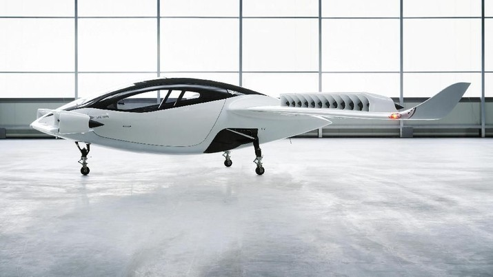 A undated handout illustration obtained from the Lilium website on May 16, 2019, shows a battery-powered five-seater aircraft prototype, that Lilium hopes to bring into service by 2025. Lilium/Handout via REUTERS        THIS IMAGE HAS BEEN SUPPLIED BY A THIRD PARTY.  NO RESALES. NO ARCHIVES