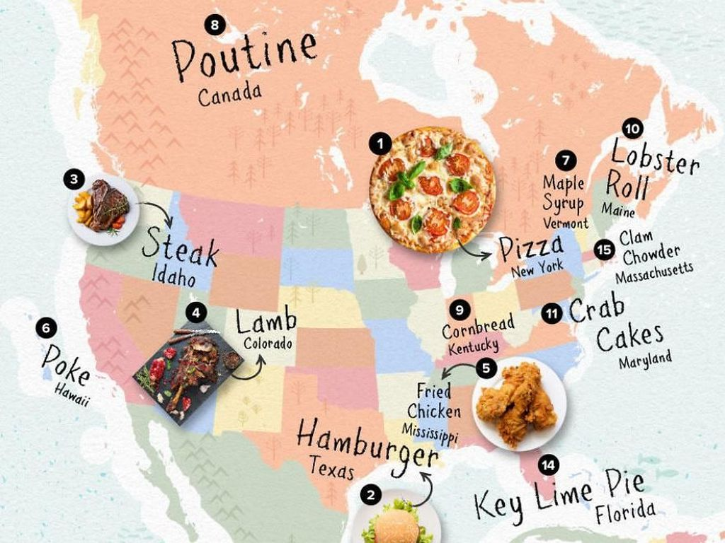 Hidangan Amerika Utara seperti steak, fried chicken, lobster roll, dan hamburger merajai list di Instagram. Lebih dari 63% tagar makanan dipenuhi dengan hidangan Amerika Utara. Foto: Rebecca Moss/Boredpanda