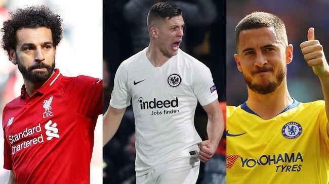 Target Madrid: Trio Hazard-Jovic-Salah di Lini Depan