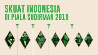 INFOGRAFIS: Skuat Indonesia di Piala Sudirman 2019