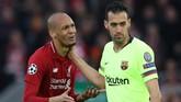 Fabinho (kiri) merupakan pemain serbabisa milik Liverpool. Namun, kualitasnya mengantarkan The Reds ke final Liga Champions dan runner-up Liga Primer Inggris tidak cukup membawanya ke timnas Brasil. (Action Images via Reuters/Carl Recine)