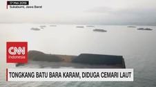 VIDEO: Tongkang Batu Bara Karam, Diduga Cemari Laut