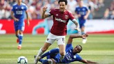 Felipe Anderson merupakan andalan lini tengah West Ham United. Perannya bersama The Hammers tidak tergantikan. Tetapi, faktor-faktor tersebut tetap tidak membuat Tite melirik pemain 26 tahun tersebut. (REUTERS/David Klein)