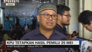 VIDEO: KPU Tetapkan Hasil Pemilu 25 Mei