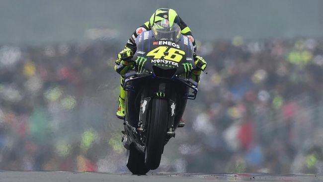 Pamer Helm Baru, Rossi Tampil Buruk di FP3 MotoGP Italia