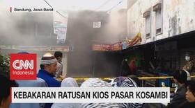 VIDEO: Ratusan Kios Pasar Kosambi Terbakar