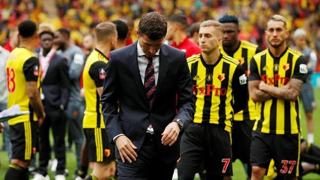Watford gagal meraih gelar di final kedua mereka pada ajang Piala FA setelah terakhir kali merasakannya saat takluk dari Everton 0-2 tahun 1984. (Action Images via Reuters/John Sibley)