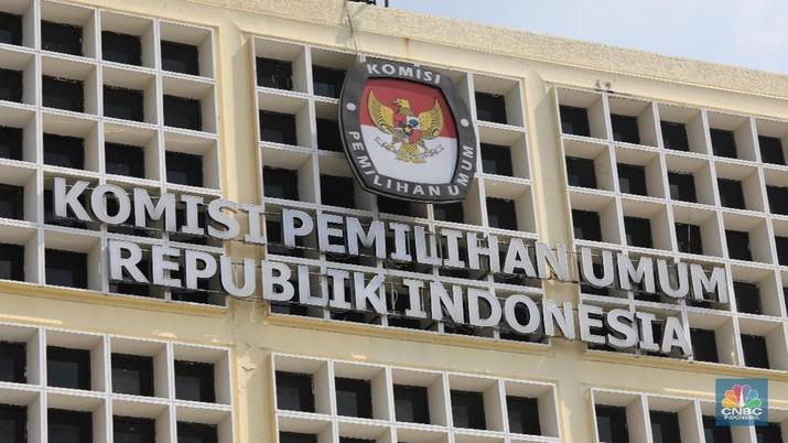 kpu Komisi Pemilhan Umum (CNBC Indonesia/Muhammad Sabki)