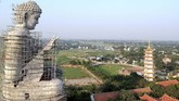 Pagoda Khai Nguyen adalah salah satu tempat ibadah yang populer di Vietnam.