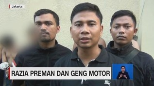 VIDEO: Razia Preman & Geng Motor, 5 Orang Ditangkap