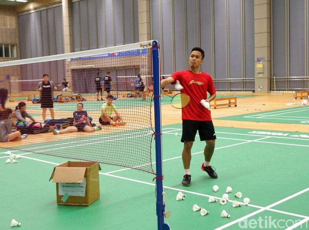 Tim Indonesia berlatih mulai pukul 15:00 waktu setempat sampai pukul 17:00.
