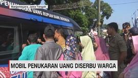 VIDEO: Mobil Penukaran Uang Diserbu Warga Banjarnegara