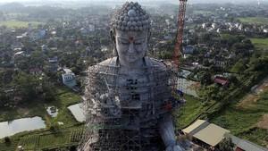 FOTO: Patung Budha Raksasa di Pagoda Khai Nguyen