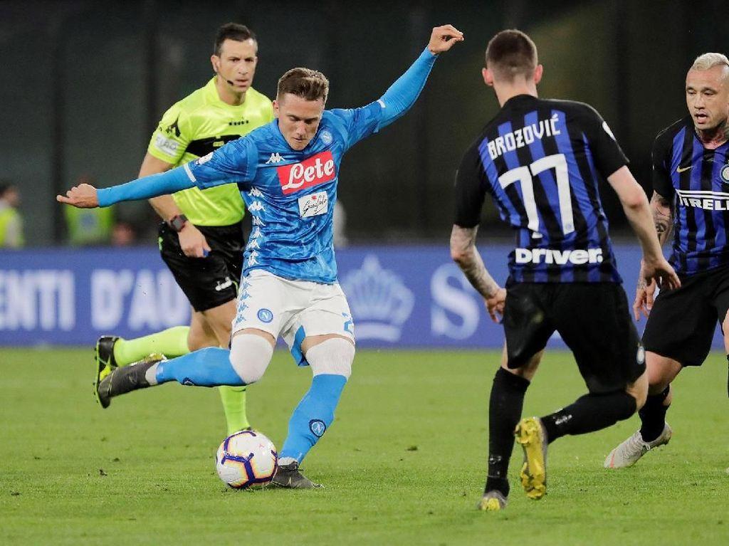 Dalam pertandingan ini Napoli mencatatkan 14 tembakan dengan enam yang on target seperti dicatat whoscored. Reuters/Ciro De Luca.
