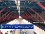 Puncak Arus Mudik, Tol Jakarta-Cikampek Satu Arah