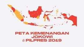 INFOGRAFIS: Peta Kemenangan Jokowi di Pilpres 2019