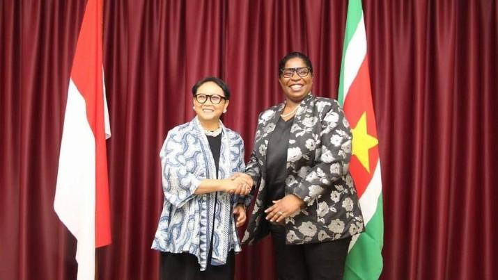 Indonesia dan Suriname sepakat memperkuat kerja sama di bidang ekonomi.