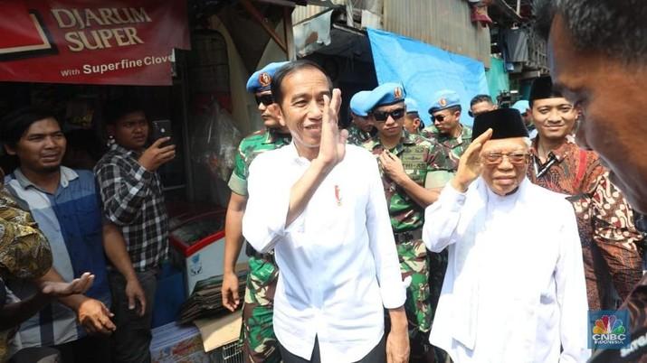 Dalam pidato awalnya, Jokowi mengatakan akan melanjutkan program pembangunan infrastruktur yang telah dilaksanakan pada periode pertamanya.