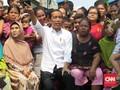Tiba di Kampung Deret, Jokowi Pidato di Hadapan Warga