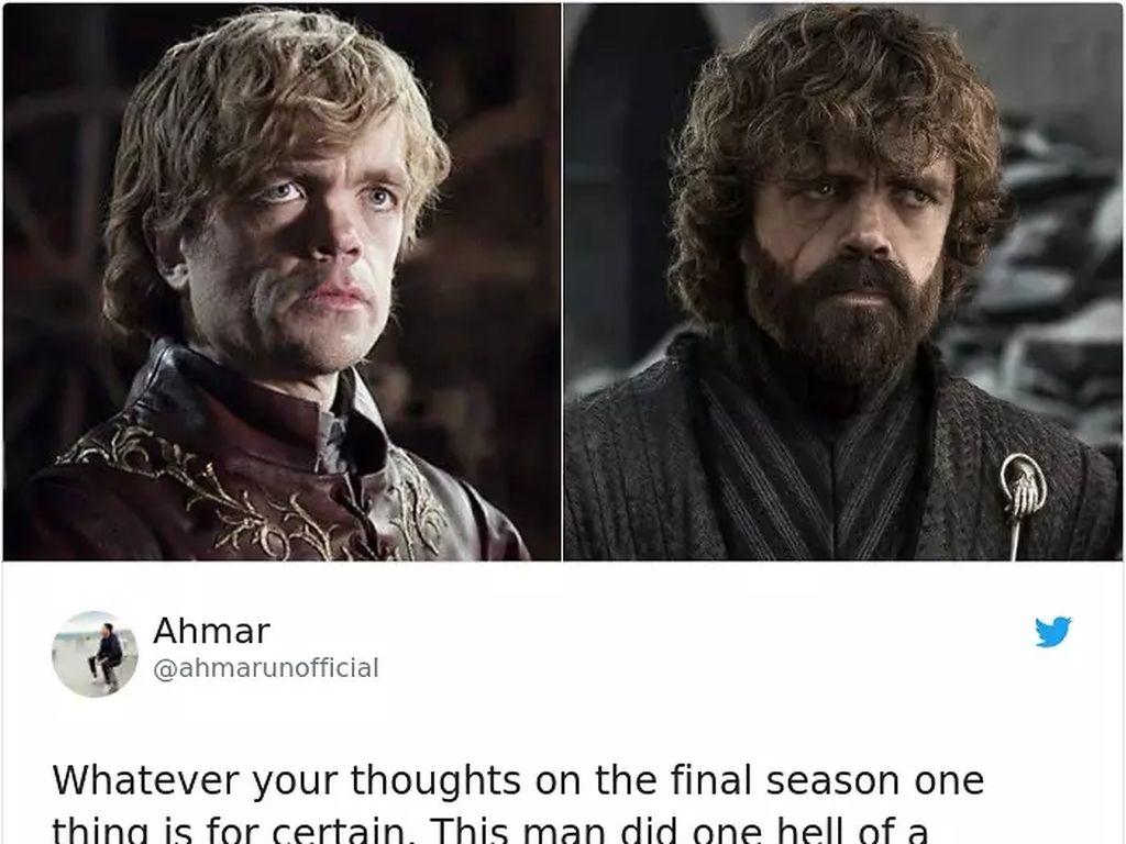 Dari satu hal yang dapat pujian tinggi adalah Peter Dinklage si Tyrion, yang dianggap tampil prima dari musim pertama sampai momen pamungkas. (Foto: Boredpanda.com)
