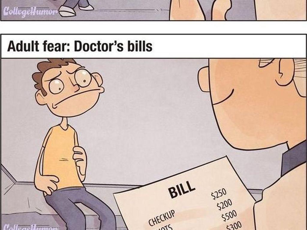 Masih kecil takut disuntik, sudah dewasa takut akan biaya rumah sakit. (Foto: justsomethingcreative)