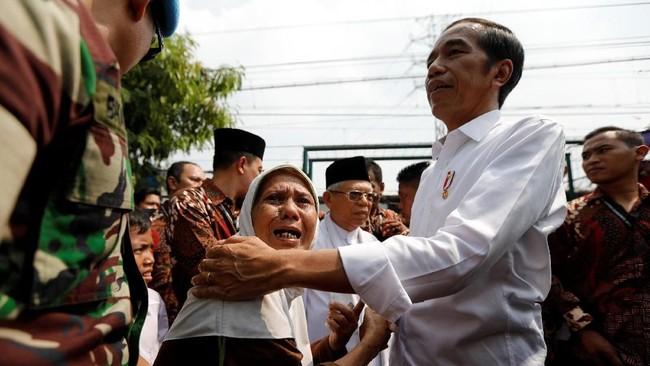 Pidato tersebut menanggapi keputusan Komisi Pemilihan Umum (KPU) yang menetapkan pasangan Joko Widodo-Ma'ruf Amin sebagai pemenang Pilpres 2019. (REUTERS/Willy Kurniawan)