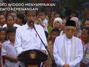 VIDEO: Pidato Kemenangan Jokowi- Ma'ruf di Hadapan Emak-Emak