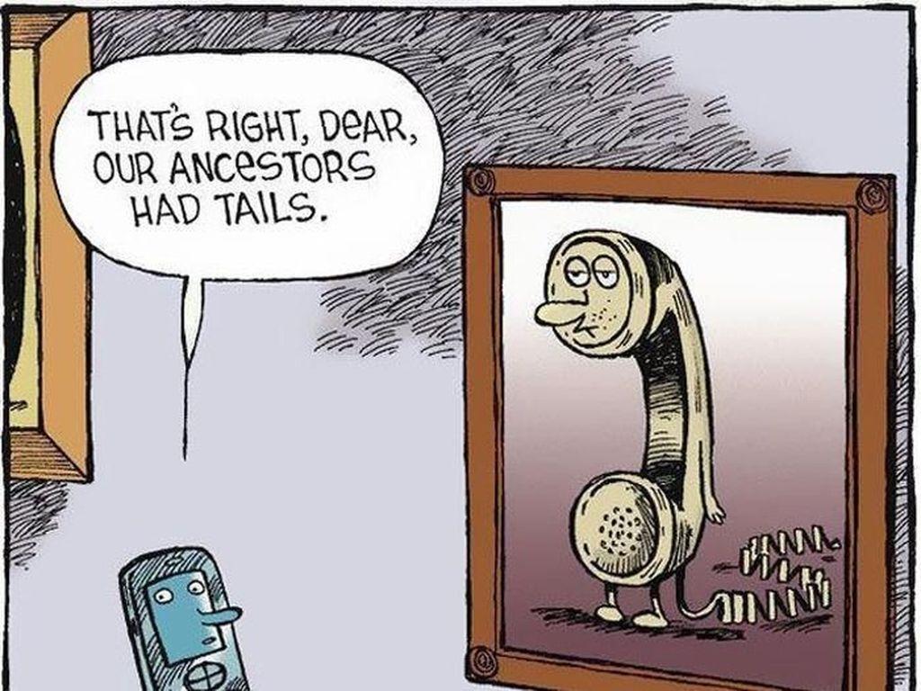 Mengenang perangkat telepon yang masih punya buntut. (Foto: justsomethingcreative)