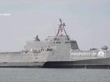 Makin Tegang, Kapal Perang AS Berjaga di Laut Malaysia