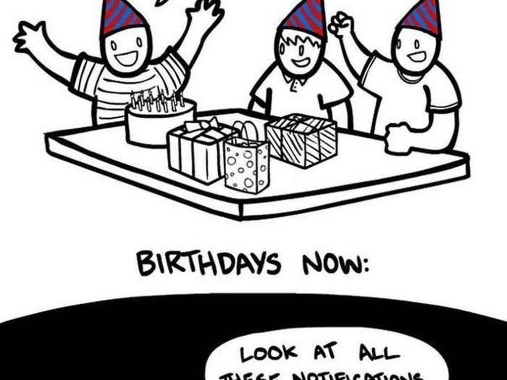 Perayaan ulangtahun dulu dan sekarang. (Foto: justsomethingcreative)